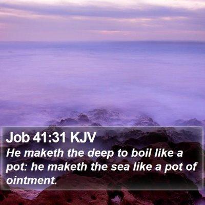 Job 41:31 KJV Bible Verse Image