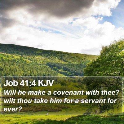 Job 41:4 KJV Bible Verse Image