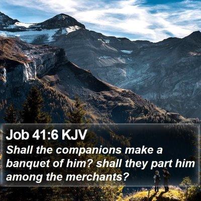 Job 41:6 KJV Bible Verse Image