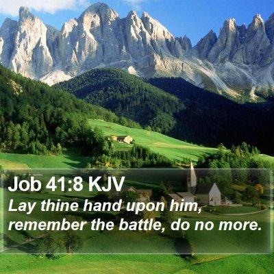 Job 41:8 KJV Bible Verse Image