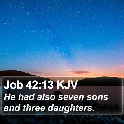 Job 42:13 KJV Bible Verse Image