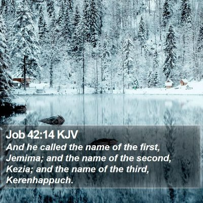 Job 42:14 KJV Bible Verse Image