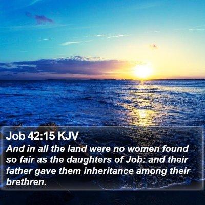 Job 42:15 KJV Bible Verse Image