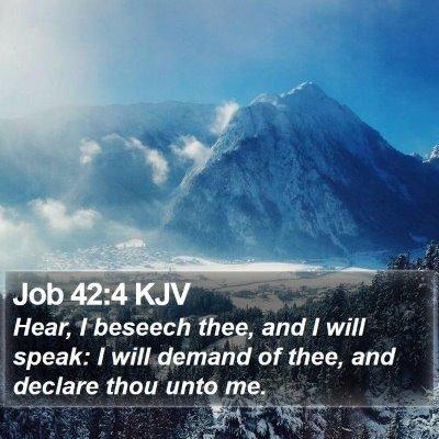 Job 42:4 KJV Bible Verse Image