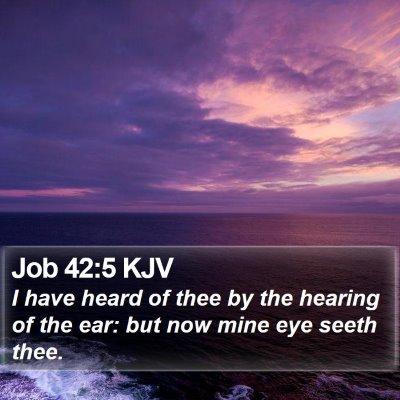 Job 42:5 KJV Bible Verse Image