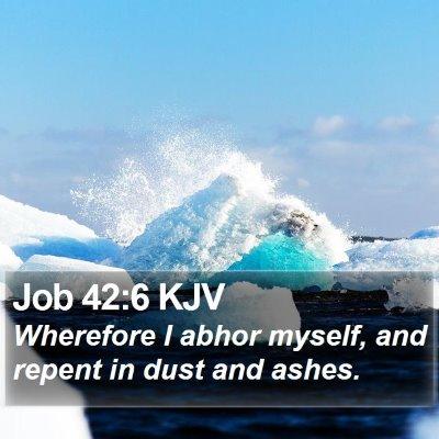 Job 42:6 KJV Bible Verse Image