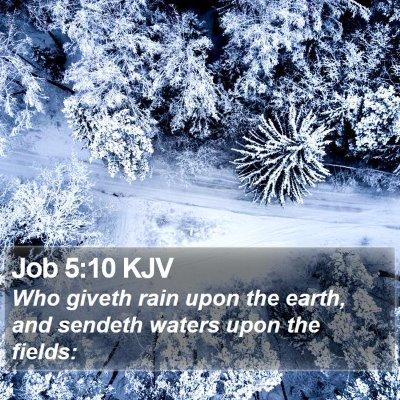 Job 5:10 KJV Bible Verse Image