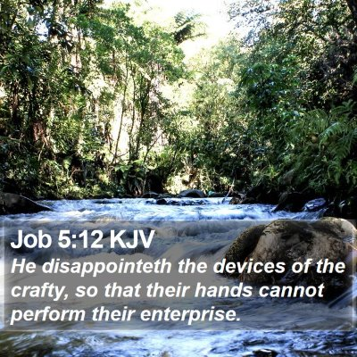 Job 5:12 KJV Bible Verse Image