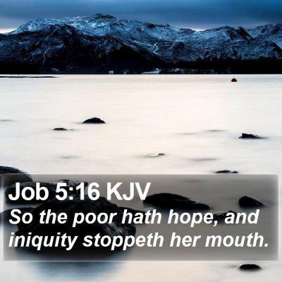 Job 5:16 KJV Bible Verse Image
