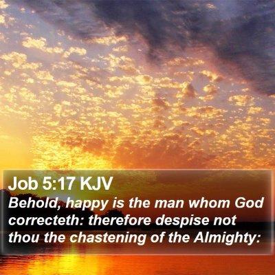 Job 5:17 KJV Bible Verse Image