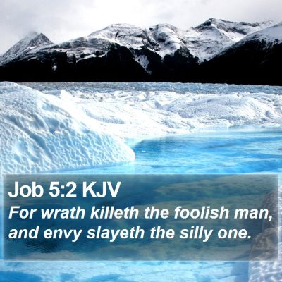 Job 5:2 KJV Bible Verse Image