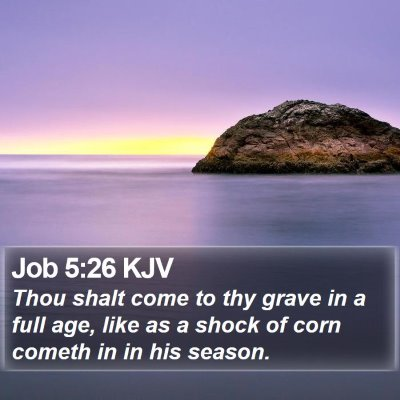 Job 5:26 KJV Bible Verse Image