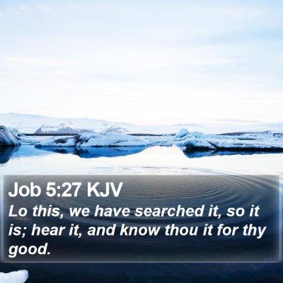 Job 5:27 KJV Bible Verse Image