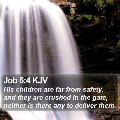 Job 5:4 KJV Bible Verse Image