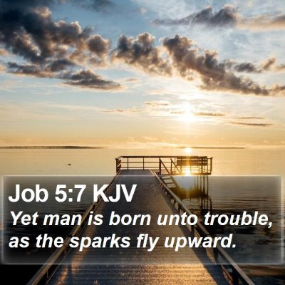 Job 5:7 KJV Bible Verse Image