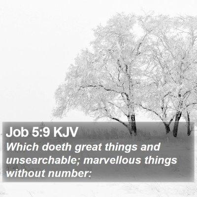 Job 5:9 KJV Bible Verse Image