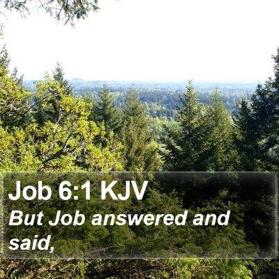 Job 6:1 KJV Bible Verse Image