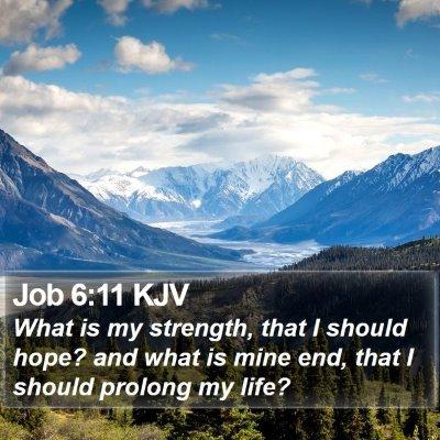 Job 6:11 KJV Bible Verse Image