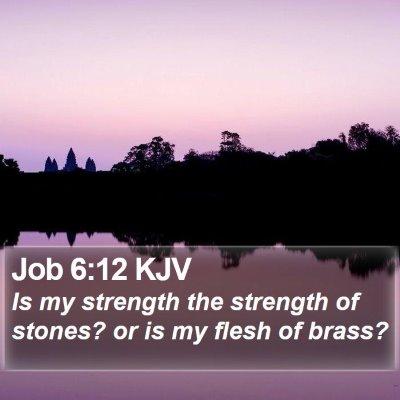 Job 6:12 KJV Bible Verse Image