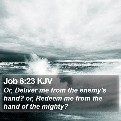 Job 6:23 KJV Bible Verse Image
