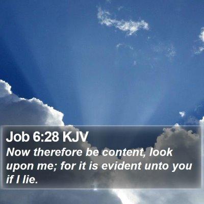 Job 6:28 KJV Bible Verse Image