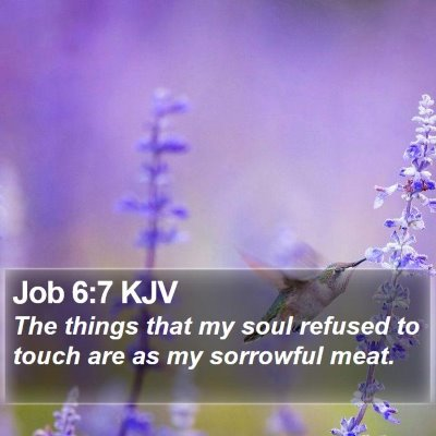 Job 6:7 KJV Bible Verse Image