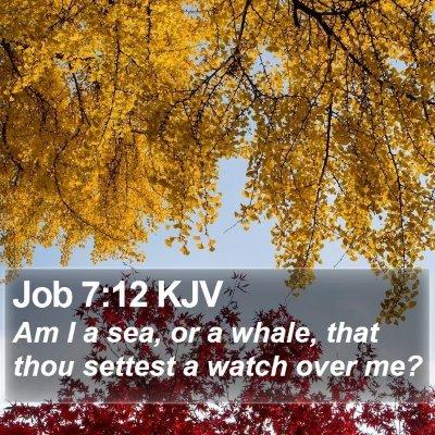 Job 7:12 KJV Bible Verse Image