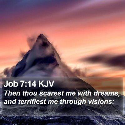 Job 7:14 KJV Bible Verse Image