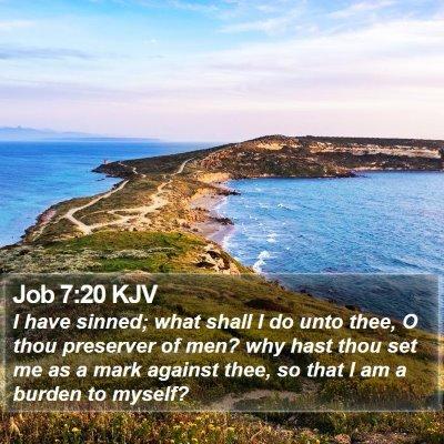 Job 7:20 KJV Bible Verse Image