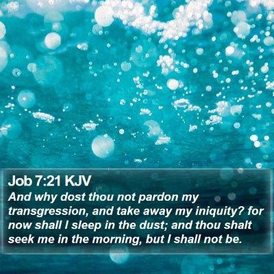 Job 7:21 KJV Bible Verse Image