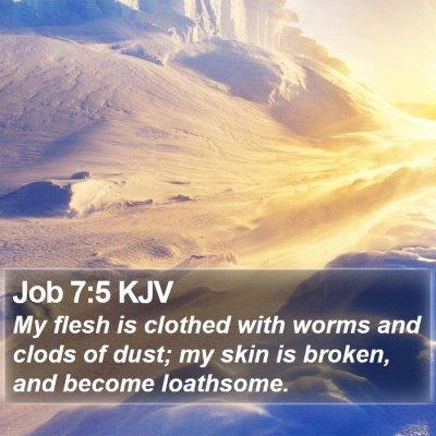 Job 7:5 KJV Bible Verse Image