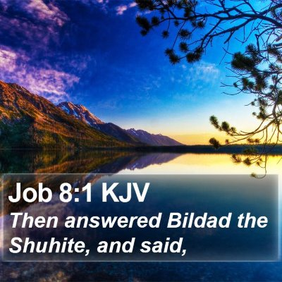 Job 8:1 KJV Bible Verse Image