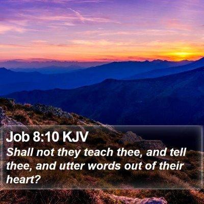 Job 8:10 KJV Bible Verse Image