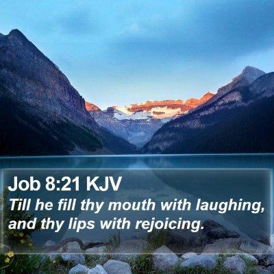 Job 8:21 KJV Bible Verse Image