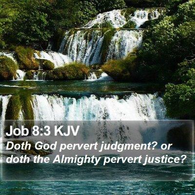 Job 8:3 KJV Bible Verse Image