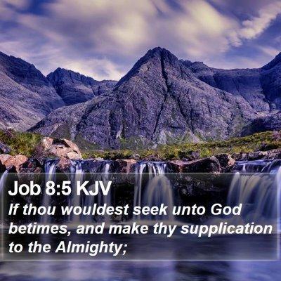 Job 8:5 KJV Bible Verse Image