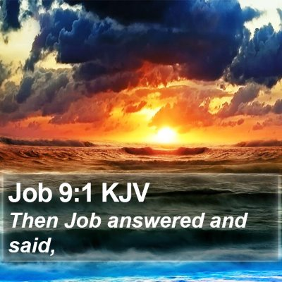 Job 9:1 KJV Bible Verse Image