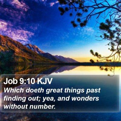 Job 9:10 KJV Bible Verse Image