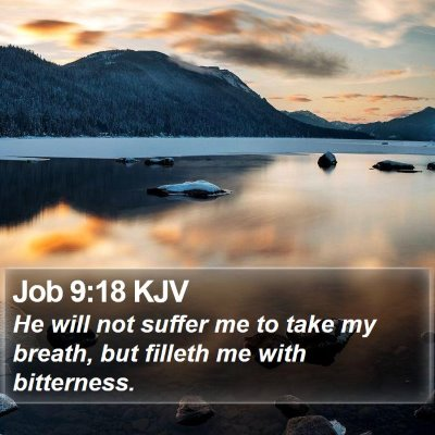 Job 9:18 KJV Bible Verse Image