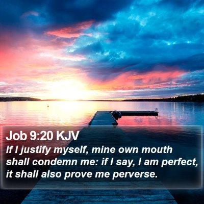 Job 9:20 KJV Bible Verse Image