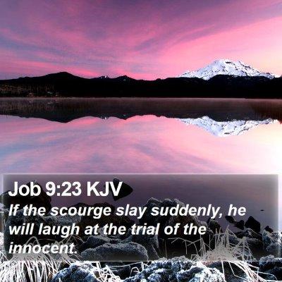 Job 9:23 KJV Bible Verse Image