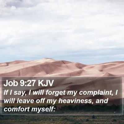 Job 9:27 KJV Bible Verse Image