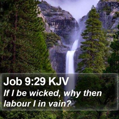 Job 9:29 KJV Bible Verse Image
