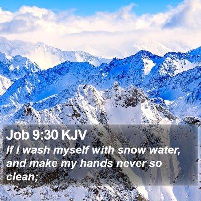 Job 9:30 KJV Bible Verse Image