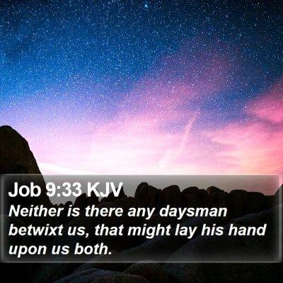 Job 9:33 KJV Bible Verse Image