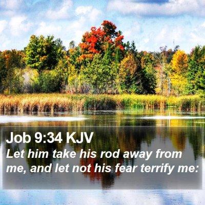 Job 9:34 KJV Bible Verse Image