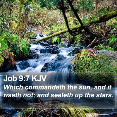 Job 9:7 KJV Bible Verse Image