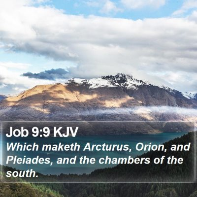 Job 9:9 KJV Bible Verse Image