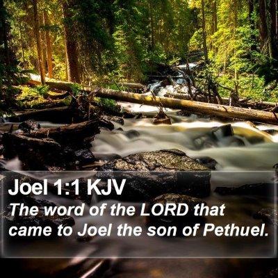 Joel 1:1 KJV Bible Verse Image
