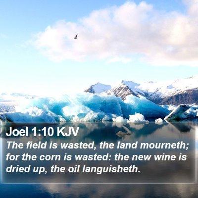 Joel 1:10 KJV Bible Verse Image
